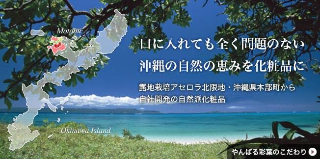 口に入れても全く問題のない自然の恵みをそのまま化粧品に| アセロラ コスメ 沖縄 美肌 美白