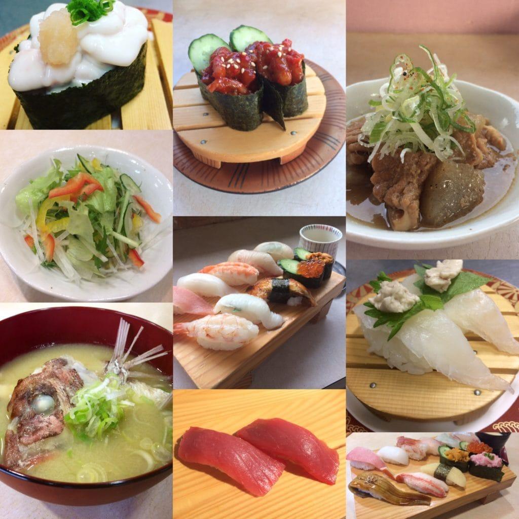 熊本県人吉 球磨郡/回転寿司まぐろやサンロードシティ店お寿司