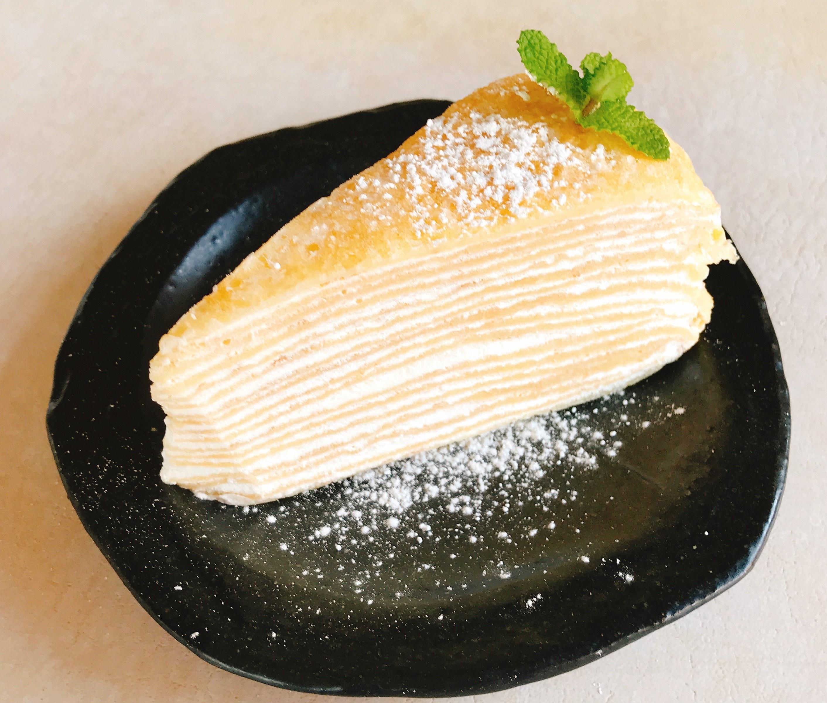熊本県人吉 球磨郡/回転寿司まぐろやサンロードシティ店自家製ミルクレープ