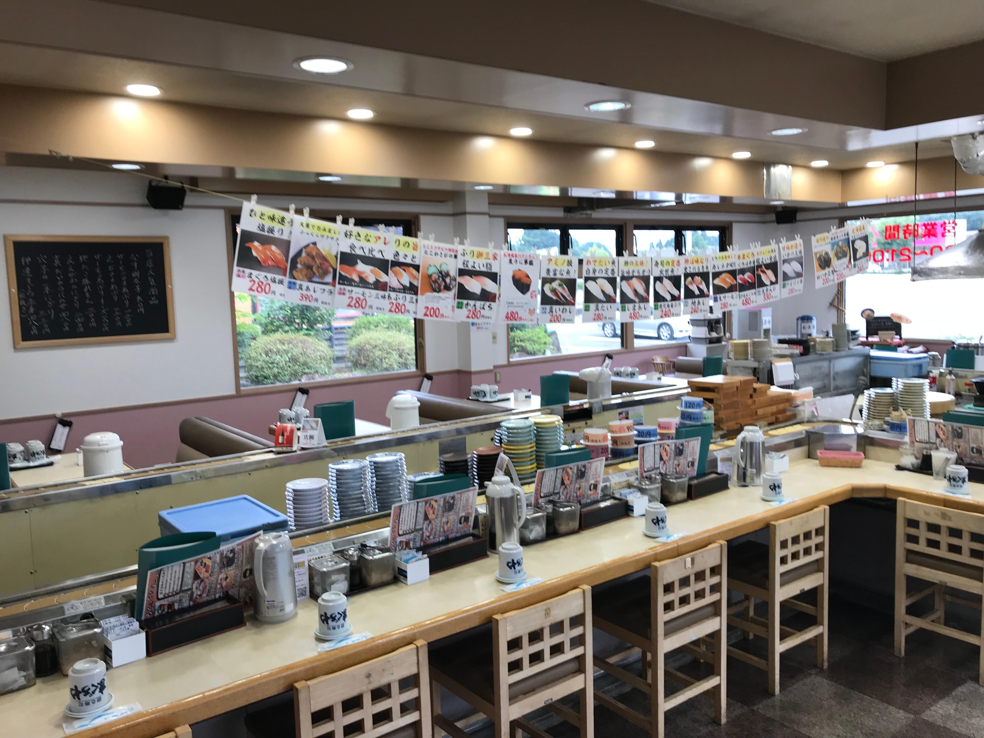 熊本県人吉 球磨郡/回転寿司まぐろやサンロードシティ店店内
