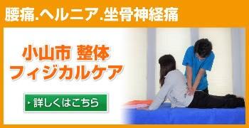 慢性的な肩こり・腰痛を改善!!栃木県小山市唯一の筋膜整体フィジカルケア  腰痛ヘルニア