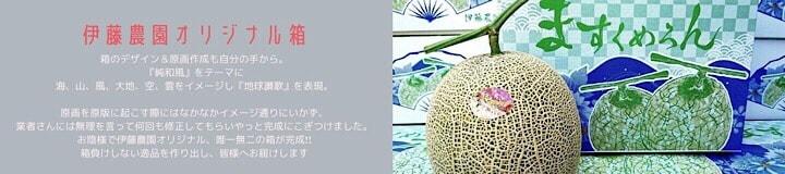 千葉県旭市こだわりづくしのマスクメロン通販 伊藤農園 オリジナルデザイン箱