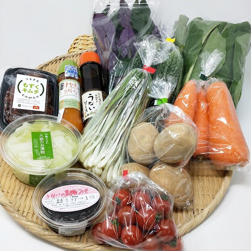 野菜 キノコ 加工品 みそ うないソース もずくキムチ にんじんドレッシング ピクルス うるマルシェ通販 ネットスーパー 野菜セット 直売所