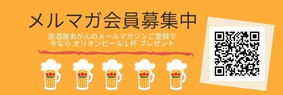 日本最南端 沖縄県波照間島の居酒屋あがん メールマガジン オリオンビール