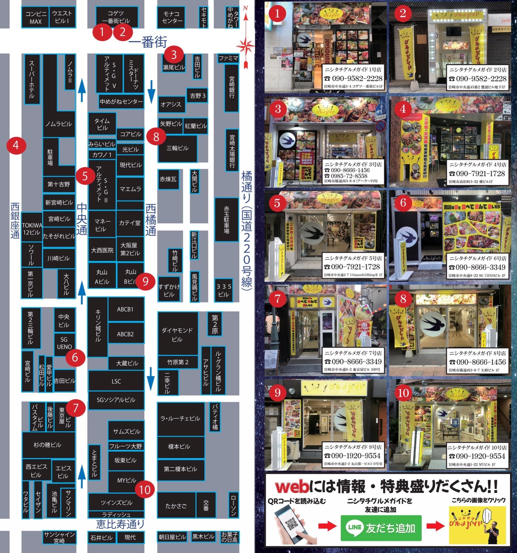 ニシタチグルメガイド|宮崎県|宮崎市|西橘通|ニシタチ|にしたち|案内所|居酒屋|食事処|グルメ